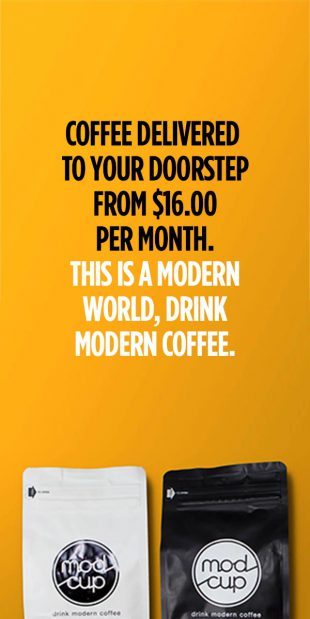 Modcup Coffee Delivered To Your Doorstep
