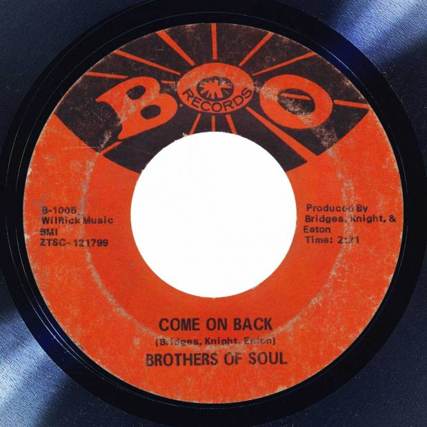 Brothers of Soul Come on Back Album cover song of the day the face radio