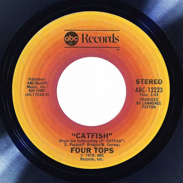 Four Tops Catfish Album cover song of the day the face radio