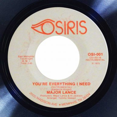 Major Lance You're Everything I Need Album cover song of the day the face radio