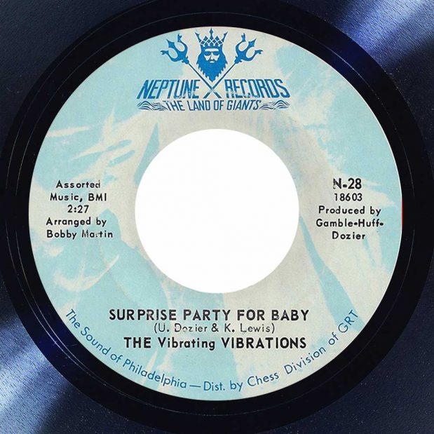 Vibrating Vibrations Surprise Party For Baby Album cover song of the day the face radio