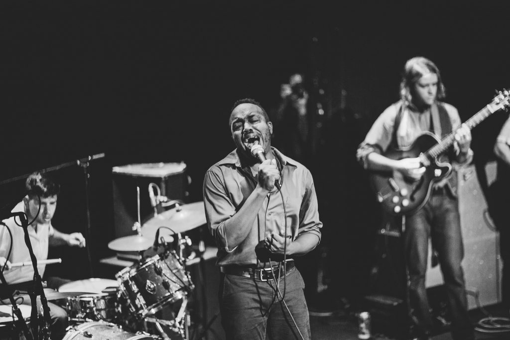 Durand Jones & The Indications play Rough Trade NYC August 2017 photo by Rosie Cohe