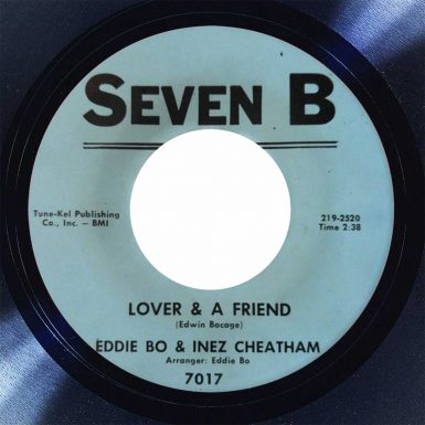 Eddie Bo & Inez Cheatham Lover & A Friend Disk Label song of the day the face radio