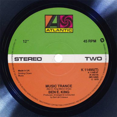 Ben E. King Music Trance Disk Label Song Of The Day The Face Radio