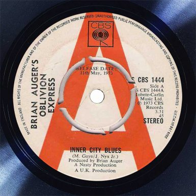 Brian Auger Inner City Blues Disk Label Song Of The Day The Face Radio