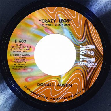 Donald Austin Crazy Legs Disk Label song of the day the face radio