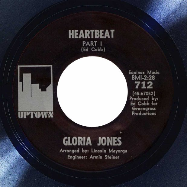 Gloria Jones Heartbeat Disk Label song of the day the face radio