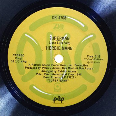 Herbie Mann Superman Disk Label Song Of The Day The Face Radio