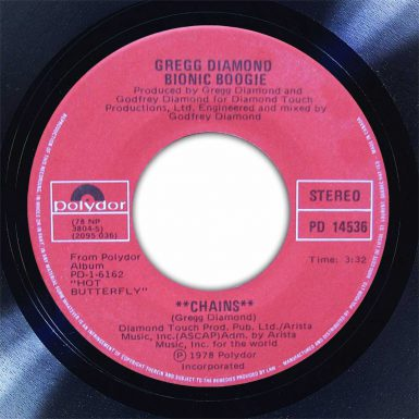Bionic Boogie Chains Disk Label Song Of The Day The Face Radio