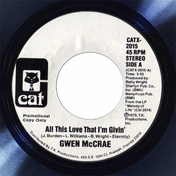 Gwen McCrae All This Love That I'm Giving Disk Label Song Of The Day The Face Radio