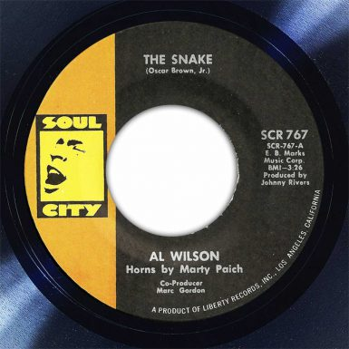 Al Wilson The Snake Disk Label Song Of The Day The Face Radio