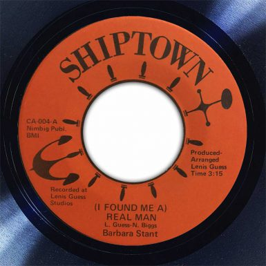 Barbara Stant (I Found Me) A Ream Man Disk Label Song Of The Day The Face Radio