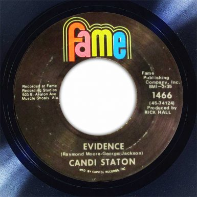 Candi Staton Evidence Disk Label Song Of The Day The Face Radio