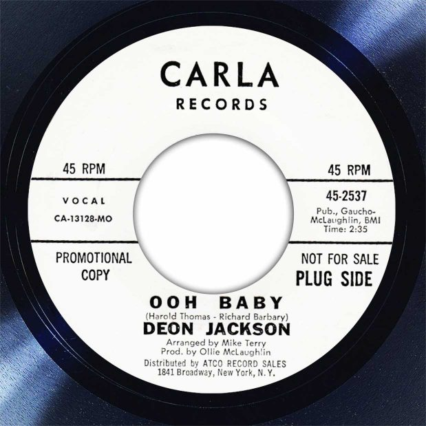 Deon Jackson Ooh Baby Disk Label Song Of The Day The Face Radio