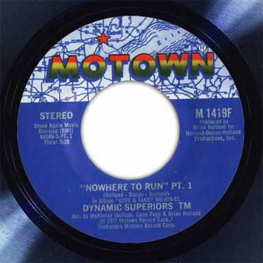 Dynamic Superiors Nowhere To Run Disk Label Song Of The Day The Face Radio
