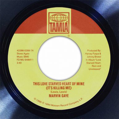 Marvin Gaye The Love Starved Heart Of Mine Is Killing Me Disk Label Song Of The Day The Face Radio