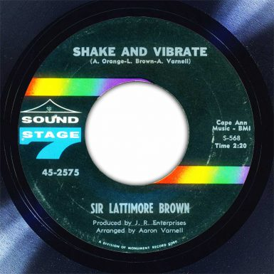 Sir Lattimore Brown Shake And Vibrate Disk Label Song Of The Day The Face Radio