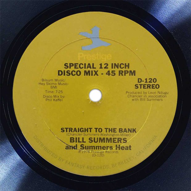 Bill Summers Straight To The Bank Disk Label Song Of The Day The Face Radio