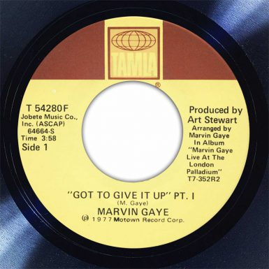 Marvin Gaye Got To Give It Up Disk Label Song Of The Day The Face Radio