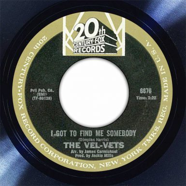 The Vel-Vets I Got To Find Me Somebody Disk Label Song Of The Day The Face Radio