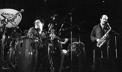 Ray Barretto playing congos