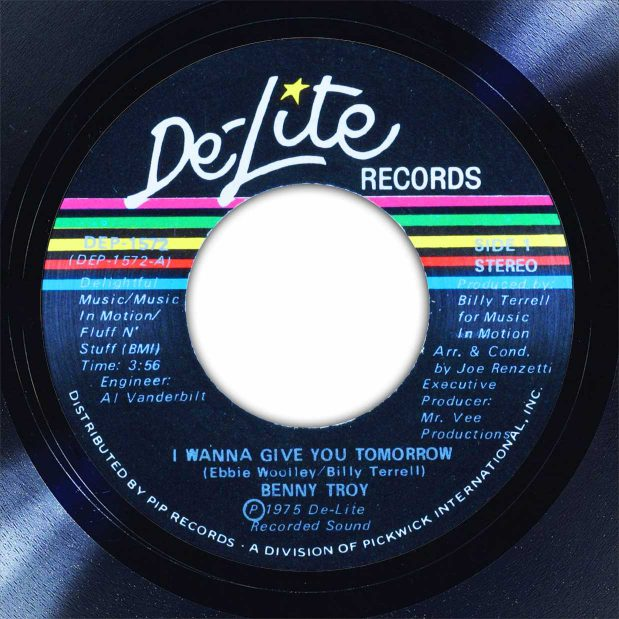 Benny Troy I Wanna Give You My Tomorrow Disk Label Song Of The Day The Face Radio