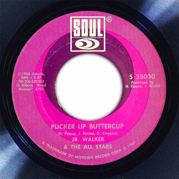 Jr Walker and The All-Starts Pucker Up Buttercup Disk Label Song Of The Day The Face Radio