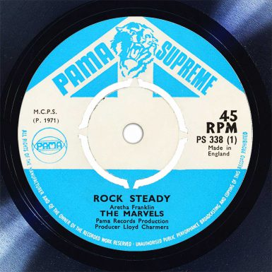 The Marvels Rock Steady Disk Label Song Of The Day The Face Radio