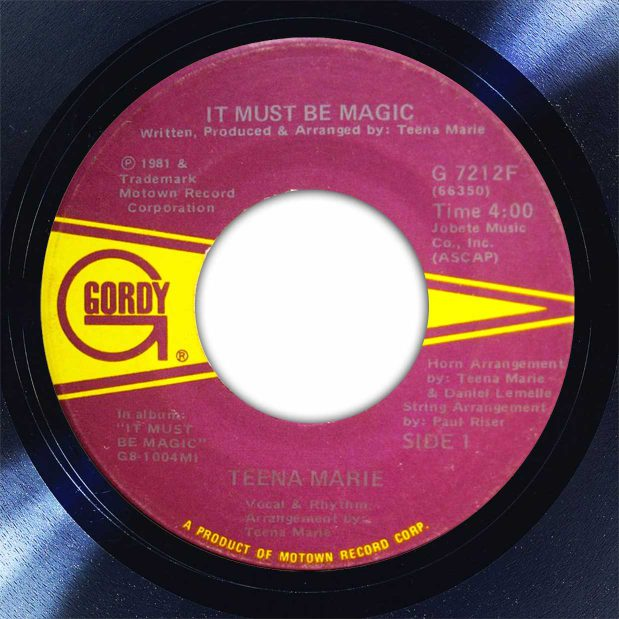 Teena Marie ‎It Must Be Magic Disk Label Song Of The Day The Face Radio
