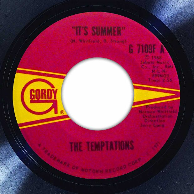 The Temptations It's Summer Disk Label Song Of The Day The Face Radio