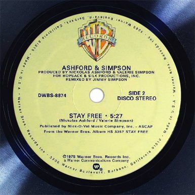 Ashford & Simpson Stay Free Disk Label Song Of The Day The Face Radio