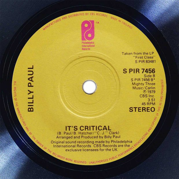 Billy Paul It's Critical Disk Label Song Of The Day The Face Radio