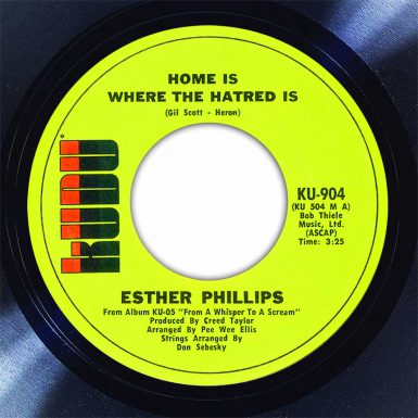 Esther Phillips Home Is Where The Hatred Is Disk Label Song Of The Day The Face Radio