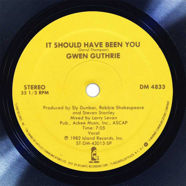 Gwen Guthrie It Should Have Been You Disk Label Song Of The Day The Face Radio