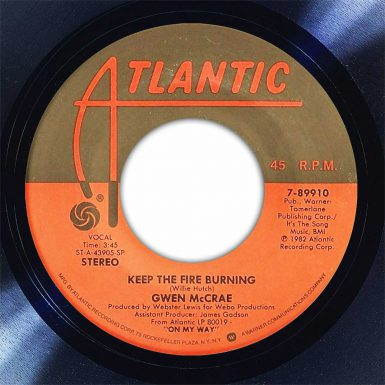 Gwen McCrae Keep The Fire Burning Disk Label Song Of The Day The Face Radio