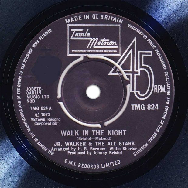 Jr Walker and The All-Starts Walk In The Night Disk Label Song Of The Day The Face Radio