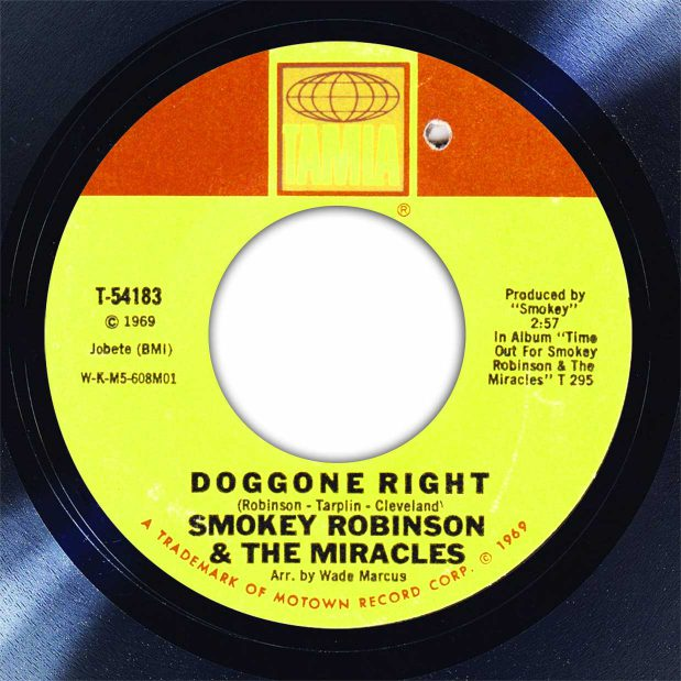 Smokey Robinson Doggone Right Disk Label Song Of The Day The Face Radio