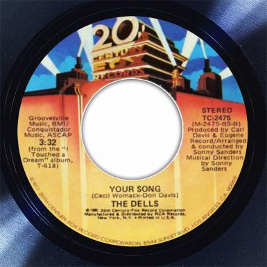 The Dells Your Song Disk Label Song Of The Day The Face Radio