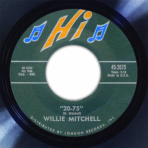 Willie Mitchell 20-75 Disk Label Song Of The Day The Face Radio