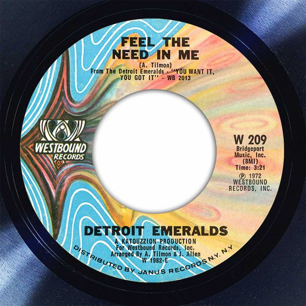 Detroit Emeralds Feel The Need In Me Disk Label Song Of The Day The Face Radio