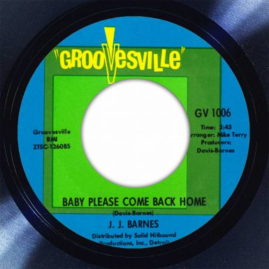 J.J. Barnes ‎Baby Please Come Back Home Disk Label Song Of The Day The Face Radio
