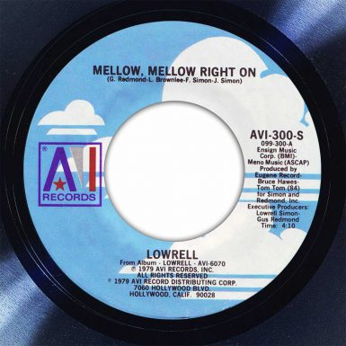 Lowrell Mellow, Mellow Right On Disk Label Song Of The Day The Face Radio