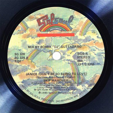 Skip Mahoney Janice Disk Label Song Of The Day The Face Radio