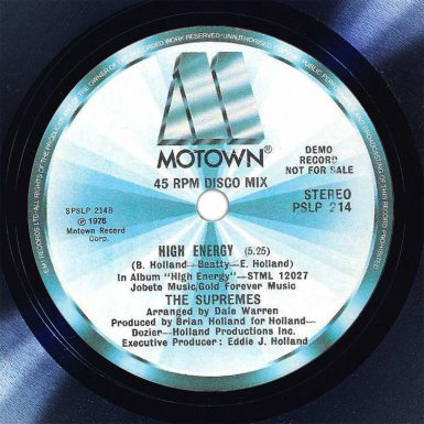 The Supremes High Energy Disk Label Song Of The Day The Face Radio