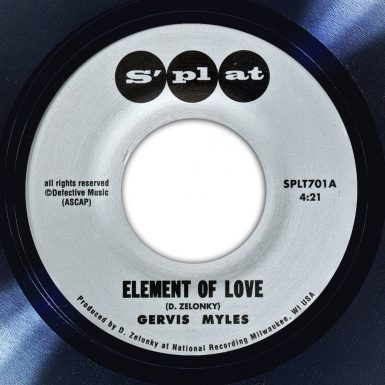 Gervis Myles Element of Love Album Label