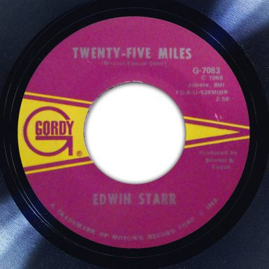 Edwin Starr Twenty Five Miles Disk Label Song Of The Day The Face Radio