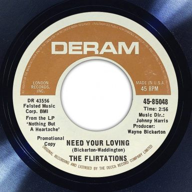 The Flirtations Need Your Loving Disk Label Song Of The Day The Face Radio