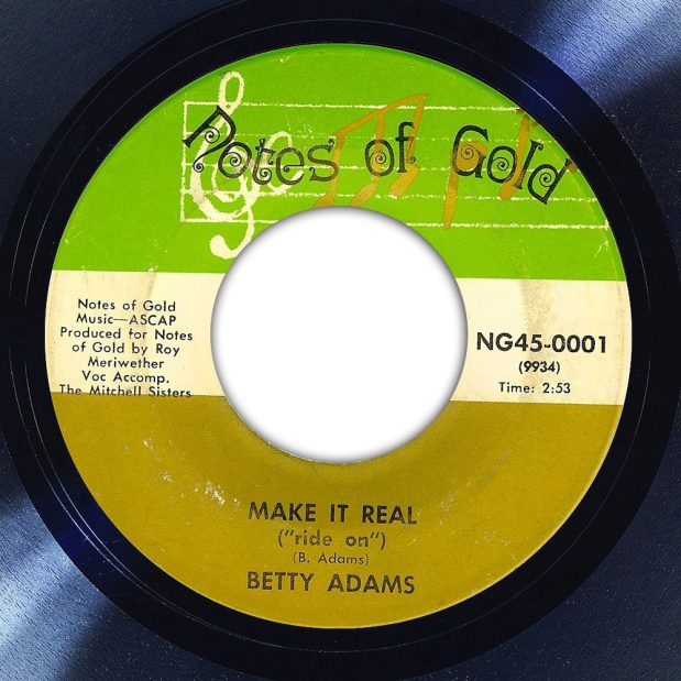 Betty Adams Make It Real (Ride On) Album Label The Face Song Of The Day