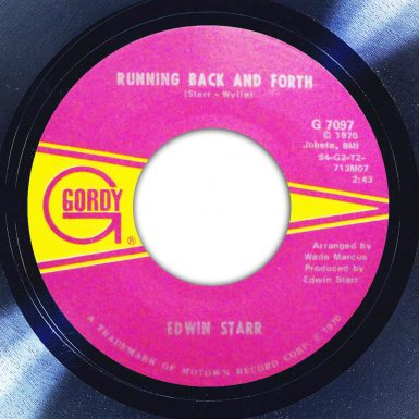 Edwin Starr Running Back and Forth Label The Face Song Of The Day