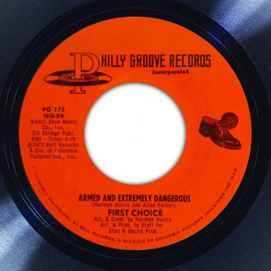 First Choice Armed and Extremely Dangerous Album Label The Face Song Of The Day